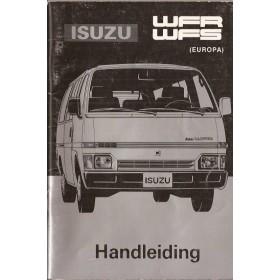 Isuzu WFS/WFR Instructieboekje   Benzine Fabrikant 86 met gebruikssporen   Nederlands