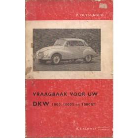 DKW Junior 1000/1000S/1000SP Vraagbaak P. Olyslager  Benzine Kluwer 61-65 met gebruikssporen Nederlands