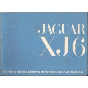 Jaguar XJ6 Instructieboekje   Benzine Fabrikant 72 ongebruikt   Engels