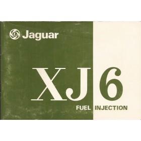 Jaguar XJ6 Instructieboekje   Benzine Fabrikant 77 ongebruikt   Engels