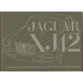 Jaguar XJ12 Instructieboekje   Benzine Fabrikant 72 ongebruikt   Engels