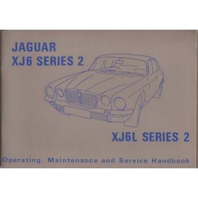 Jaguar XJ6L series 2 Instructieboekje   Benzine Fabrikant 73 ongebruikt   Engels