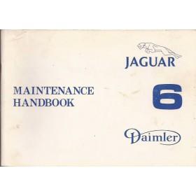 Jaguar/Daimler XJ6 Instructieboekje   Benzine Fabrikant 79 met gebruikssporen   Engels