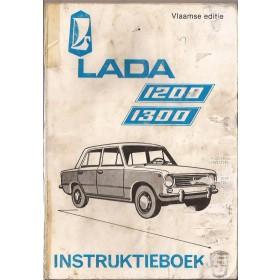 Lada 1200/1300 Instructieboekje   Benzine Fabrikant 72-88 met gebruikssporen vochtschade aan kaft  Nederlands