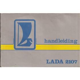 Lada 2107 Instructieboekje   Benzine Fabrikant 83 met gebruikssporen losse kaft  Nederlands