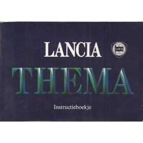 Lancia Thema Instructieboekje   Benzine Fabrikant 86 met gebruikssporen   Nederlands