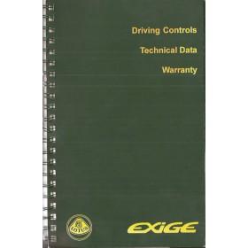 Lotus Exige Instructieboekje   Benzine Fabrikant 00 ongebruikt   Engels