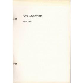 Volkswagen Golf/Vento Vraagbaak P. Olving  Diesel Kluwer 91-93 oorspronkelijk losbladig, ongebruikt   Nederlands