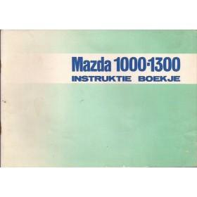 Mazda 1000/1300 Instructieboekje   Benzine Fabrikant 73 met gebruikssporen   Nederlands