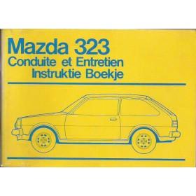 Mazda 323 Instructieboekje   Benzine Fabrikant 76 ongebruikt   Nederlands/Frans