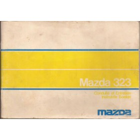 Mazda 323 Instructieboekje   Benzine Fabrikant 76 met gebruikssporen   Nederlands/Frans