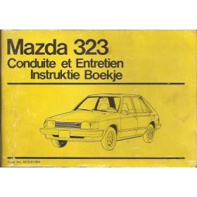 Mazda 323 Instructieboekje   Benzine Fabrikant 80 met gebruikssporen   Nederlands/Frans