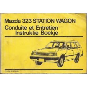 Mazda 323 Station Wagon Instructieboekje   Benzine Fabrikant 83 met gebruikssporen lichte vochtschade  Nederlands/Frans