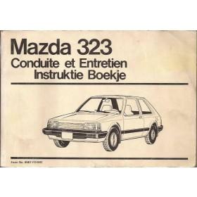 Mazda 323 Instructieboekje   Benzine Fabrikant 84 met gebruikssporen   Nederlands/Frans