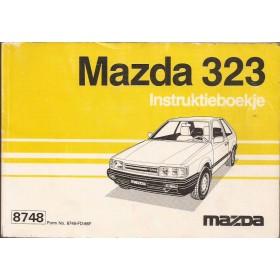Mazda 323 Instructieboekje   Benzine Fabrikant 86 met gebruikssporen   Nederlands/Frans