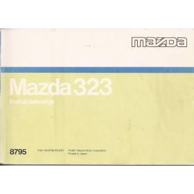 Mazda 323 Instructieboekje   Benzine Fabrikant 87 met gebruikssporen   Nederlands/Frans