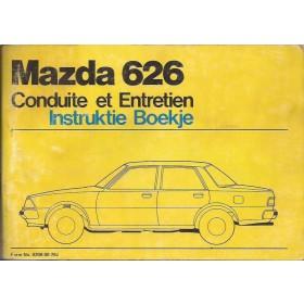 Mazda 626 Instructieboekje   Benzine Fabrikant 78 met gebruikssporen   Nederlands/Frans