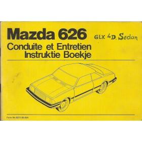 Mazda 626 Instructieboekje   Benzine Fabrikant 80 met gebruikssporen   Nederlands/Frans