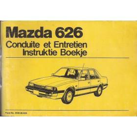 Mazda 626 Instructieboekje   Benzine Fabrikant 82 met gebruikssporen   Nederlands/Frans