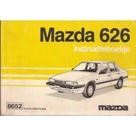 Mazda 626 Instructieboekje   Benzine Fabrikant 85 met gebruikssporen   Nederlands/Frans