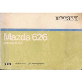 Mazda 626 Instructieboekje   Benzine Fabrikant 88 met gebruikssporen   Nederlands/Frans
