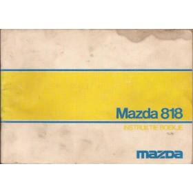 Mazda 818 Instructieboekje   Benzine Fabrikant 73 met gebruikssporen   Nederlands