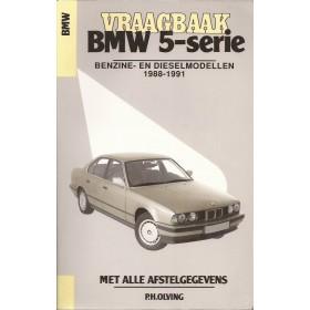 BMW 5-serie Vraagbaak P. Olyslager type E34 Benzine Kluwer 88-91 met gebruikssporen   Nederlands