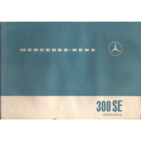 Mercedes-Benz 300SE Instructieboekje  W112 Benzine Fabrikant 61 met gebruikssporen lichte vochtschade  Duits