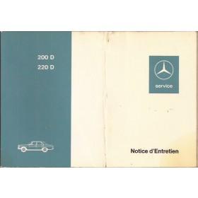Mercedes-Benz 200D/220D Instructieboekje  W115 Diesel Fabrikant 72 met gebruikssporen vouw in kaft  Frans