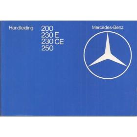 Mercedes-Benz 200/230E/230CE/250 Instructieboekje  W123 Benzine Fabrikant 80 ongebruikt   Nederlands
