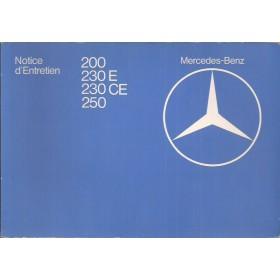 Mercedes-Benz 200/230E/230CE/250 Instructieboekje  W123 Benzine Fabrikant 80 ongebruikt   Frans