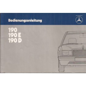 Mercedes-Benz 190/190E/190D Instructieboekje  W201 Benzine/Diesel Fabrikant 83 met gebruikssporen   Duits