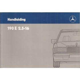 Mercedes-Benz 190E 2.5 16v Instructieboekje  W201 Benzine Fabrikant 88 ongebruikt   Nederlands