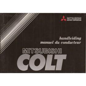 Mitsubishi Colt Instructieboekje   Benzine Fabrikant 79 met gebruikssporen   Nederlands/Frans