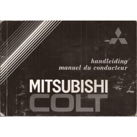 Mitsubishi Colt Instructieboekje   Benzine Fabrikant 83 met gebruikssporen   Nederlands/Frans