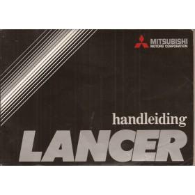 Mitsubishi Lancer Instructieboekje   Benzine Fabrikant 76 met gebruikssporen   Nederlands