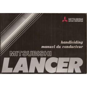 Mitsubishi Lancer Instructieboekje   Benzine Fabrikant 77 met gebruikssporen   Nederlands/Frans
