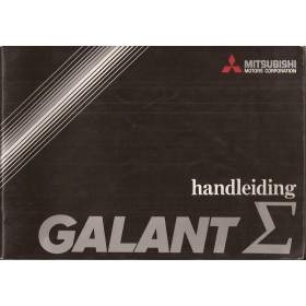 Mitsubishi Galant/Sapporo Instructieboekje   Benzine Fabrikant 76 met gebruikssporen groot formaat  Nederlands