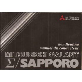 Mitsubishi Galant/Sapporo Instructieboekje   Benzine Fabrikant 77 met gebruikssporen   Nederlands/Frans