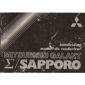 Mitsubishi Galant/Sapporo Instructieboekje   Benzine Fabrikant 79 met gebruikssporen   Nederlands/Frans