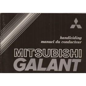 Mitsubishi Galant Instructieboekje   Benzine Fabrikant 80 met gebruikssporen   Nederlands/Frans