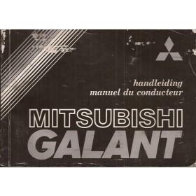 Mitsubishi Galant Instructieboekje   Benzine Fabrikant 82 met gebruikssporen   Nederlands/Frans