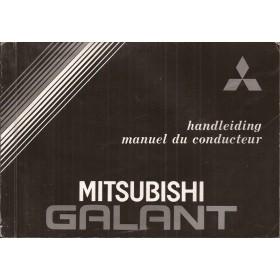 Mitsubishi Galant Instructieboekje   Benzine Fabrikant 84 met gebruikssporen   Nederlands/Frans