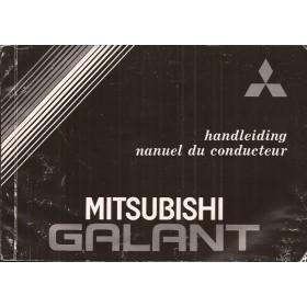 Mitsubishi Galant Instructieboekje   Benzine Fabrikant 85 met gebruikssporen   Nederlands/Frans