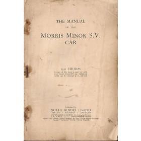 Morris Minor S.V. Instructieboekje   Benzine Fabrikant 31 met gebruikssporen kaft ontbreekt  Engels