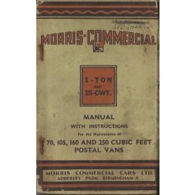 Morris 1-Ton/15-CWT Instructieboekje   Benzine Fabrikant 36 met gebruikssporen   Engels