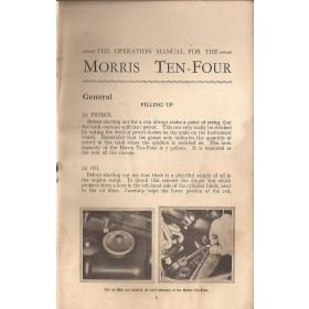 Morris Ten-four (Series M) Instructieboekje   Benzine Fabrikant 37 met gebruikssporen kaft ontbreekt  Engels