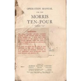 Morris Ten-four (Series M) Instructieboekje   Benzine Fabrikant 46 met gebruikssporen voorkaft ontbreekt  Engels