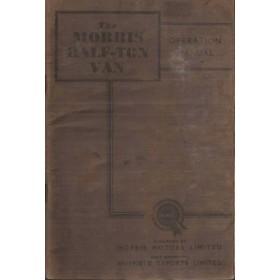 Morris Half Ton Van Instructieboekje   Benzine Fabrikant 54 met gebruikssporen   Engels
