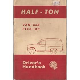 Morris Half Ton Van Instructieboekje   Benzine Fabrikant 64 met gebruikssporen   Engels
